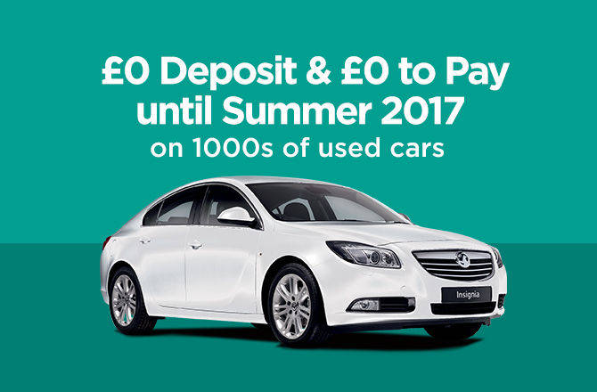 £0 Deposit & £0 to Pay until Summer 2017