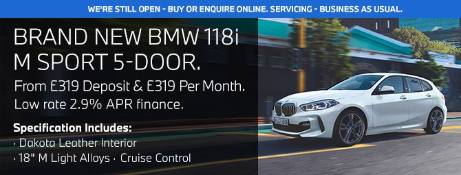 Bmw Offers Low Deposit Pcp Finance Deals On New Bmw Cars